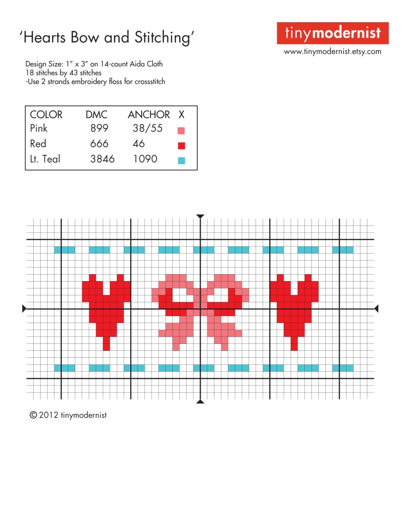 Heart Bow Pattern